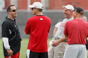 coaches laughing