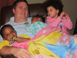 Rep. Harris, this white dad and his three black kids will take our $100,000 now.