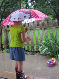 Besides, if you don't have the galoshes, what's the point?